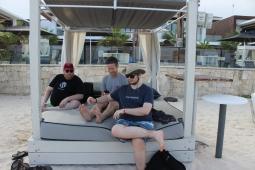 The men's cabana