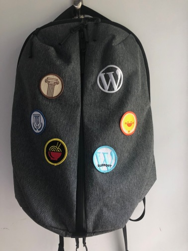 My backpack with my own patches